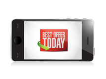 Phone best offer today sign illustration design Stock Photo