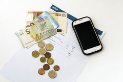 Phone bill. Royalty Free Stock Photography