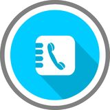 Phone book logo and template stock illustration