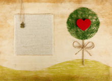 Phone book scrapbooking page w love tree Royalty Free Stock Image