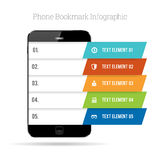 Phone Bookmark Infographic Stock Photos