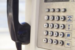 Phone booth. A phone booth closeup Royalty Free Stock Images