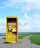 Phone booth. Shot of a german phone booth stock photo