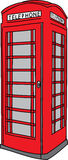 Phone booth royalty free illustration