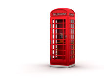 Phone booth. The British red phone booth on white vector illustration