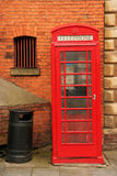 Phone Booth. Classic red English phone booth Royalty Free Stock Image