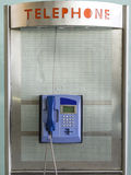 Phone Booth. In an airport in Turkey Stock Photo