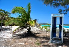 Phone booth Bahamas Stock Images