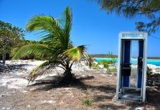 Phone booth Bahamas. Strange phone booth on the Bahamas Stock Images