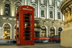 Phone booth in the center of London stock image