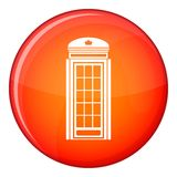 Phone booth icon, flat style Royalty Free Stock Photo