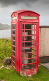 Phone Booth at the Loch Stock Photography