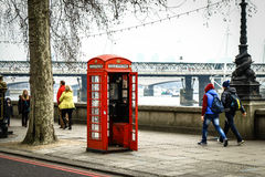 Phone booth. In London, United Kingdom Stock Image