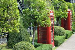 PHONE BOOTH IN NONG NOOCH GARDEN PATTAYA Royalty Free Stock Photography