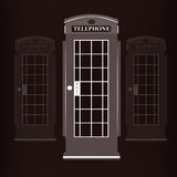 Phone booth, vector illustration Royalty Free Stock Photos