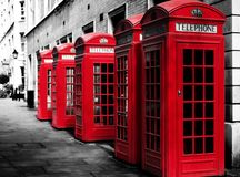 Phone booths Royalty Free Stock Photo