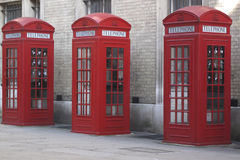 Phone booths in London Stock Image