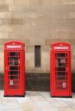 Phone booths in Manchester Stock Photo