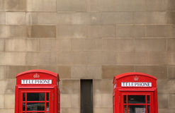 Phone booths in Manchester Royalty Free Stock Photo