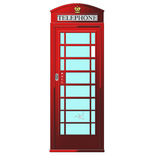 Phone both. Old English red telephone both Royalty Free Stock Images