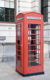 Phone box. Classical red phone box in london Royalty Free Stock Photo