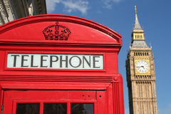 Phone Box And Big Ben Stock Photos