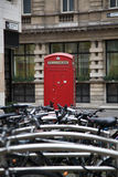 Phone box and Bikes Royalty Free Stock Photo