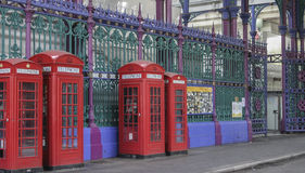 Phone Boxes London Stock Image