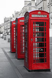 Phone boxes on the Royal Mile Stock Photography
