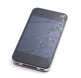 Phone with broken display screen Royalty Free Stock Image