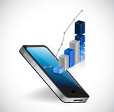 Phone business access illustration Royalty Free Stock Image