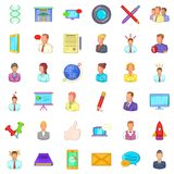 Phone business icons set, cartoon style. Phone business icons set. Cartoon style of 36 phone business vector icons for web isolated on white background Royalty Free Stock Photography