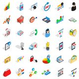 Phone business icons set, isometric style. Phone business icons set. Isometric style of 36 phone business vector icons for web isolated on white background Stock Images