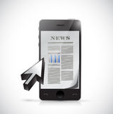 Phone business news illustration design Stock Photos