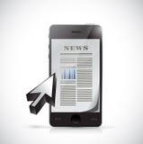 Phone business news illustration design Stock Photos