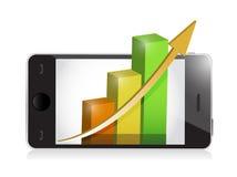 Phone with business profits illustration design Royalty Free Stock Image