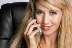 Phone Business Woman Stock Images