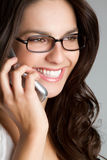 Phone Business Woman Royalty Free Stock Photos