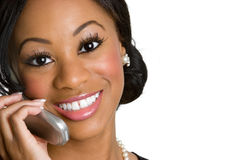 Phone Businesswoman Stock Image