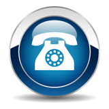 Phone button Royalty Free Stock Photos