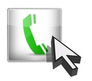 Phone button and cursor Royalty Free Stock Image