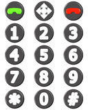Phone Button Set Stock Photos