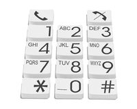 Phone buttons Stock Image