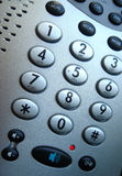 Phone Buttons. Close up of phone keypad with speaker button led Royalty Free Stock Photo