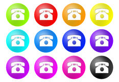 Phone buttons Stock Photo