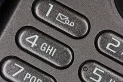 Phone buttons with message icon Stock Images