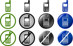 Phone buttons and symbols Royalty Free Stock Photos