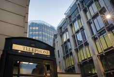 Phone cabine in City of London Stock Photo