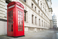 Phone cabine in London Royalty Free Stock Photography