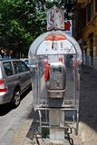 Phone cabine in Rome city on May 31, 2014 Stock Photos